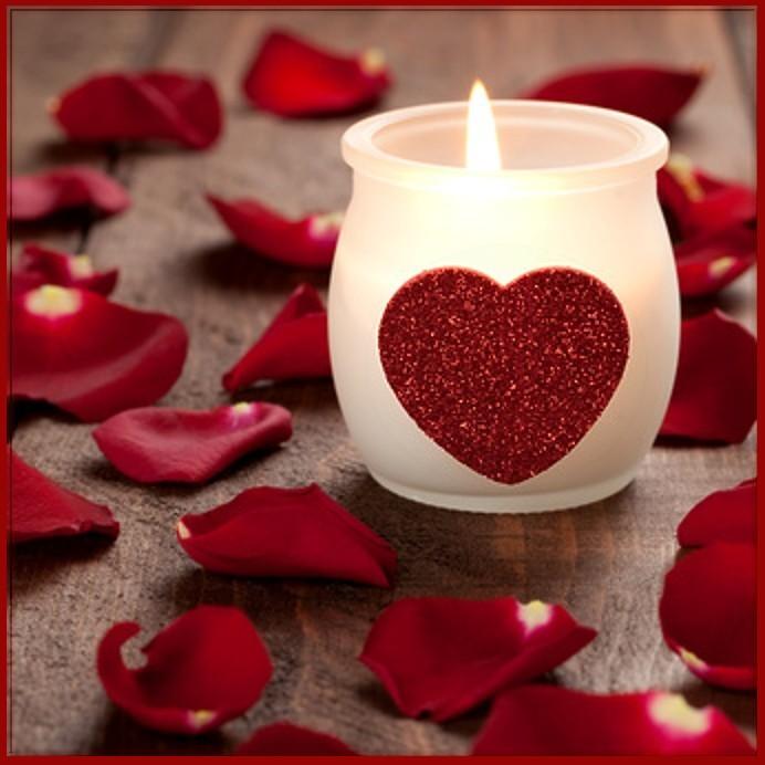 beautiful valentine candles